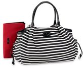 Kate Spade Stevie Diaper Bag in Black/Cream Stripe