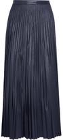 Golden Goose Deluxe Brand Liza Plissé Coated-jersey Maxi Skirt - Blue