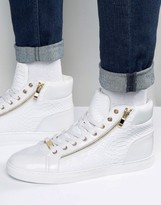 Asos High Top Sneakers In White