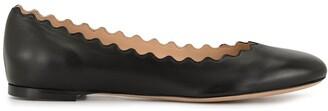 Chloé Lauren scalloped ballerina shoes