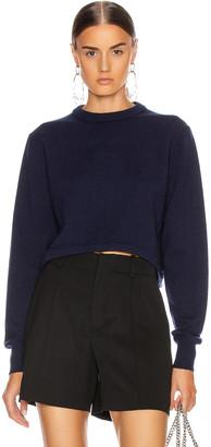 Chloé Crop Tie Back Sweater in Evening Blue | FWRD