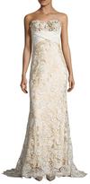 Mac Duggal Lace Panel Floor Length Dress