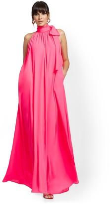 New York & Co. Halter Bow Maxi Dress