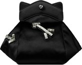 Carven Black Pochon Defile F Satin Bag