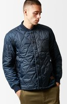 Brixton Crawford Navy Quilted Bomber Jacket