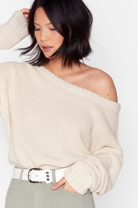 Nasty Gal Womens Knit's My Way Slouchy Sweater - Oatmeal