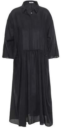 Jil Sander Gathered Wool Midi Dress