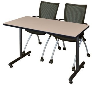 "BEIGE Marin Training Table Symple Stuff Size: 29"" H x 60"" L x 24"" W, Tabletop Finish"