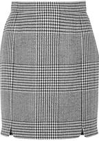 Pierre Balmain Houndstooth Tweed Mini Skirt - Black
