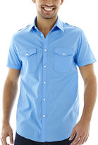 Jf J.Ferrar JF Short-Sleeve Military Shirt
