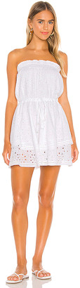 1 STATE Strapless Tiered Cotton Eyelet Dress
