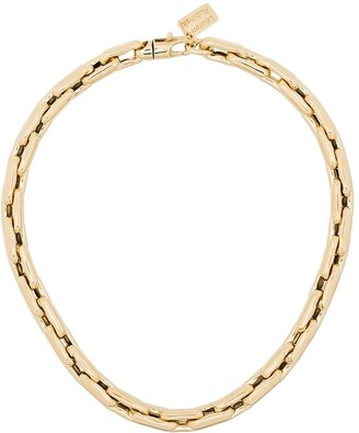 LAUREN RUBINSKI 14kt Yellow Gold Small Square Link Chain Necklace