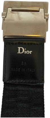 Christian Dior Black Cloth Belts
