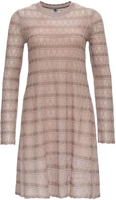 M Missoni Flred Dress In Lurex Knit With Zig-zag Pattern