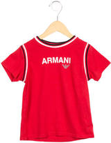 Armani Junior Boys' Printed Short Sleeve Shirt