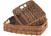 One Kings Lane Asst. of 2 Country Storage Baskets, Brown