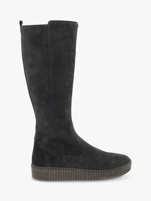 Gabor Lucinda Suede Calf High Boots, Pepper