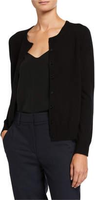 Neiman Marcus Cashmere Button-Front Basic Cardigan
