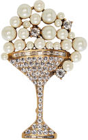 Marc Jacobs Gold Martini Brooch