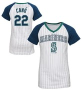 MLB Seattle Mariners Girls' Robinson Canó Pinstripe T-Shirt Jersey