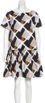Suno Short Sleeve Mini Dress