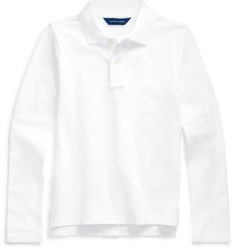Ralph Lauren Long-Sleeve Uniform Polo Shirt
