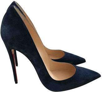 Christian Louboutin So Kate Blue Suede Heels