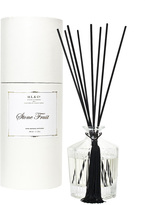 D.L. & Co. Frosted Stripe Stone Fruit Diffuser (6.75 OZ)
