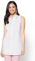 New York & Co. Side-Vent Tunic Shirt