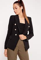 Missguided Military Style Blazer Black