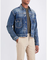 Ralph Lauren Purple Label Washed Denim Trucker Jacket