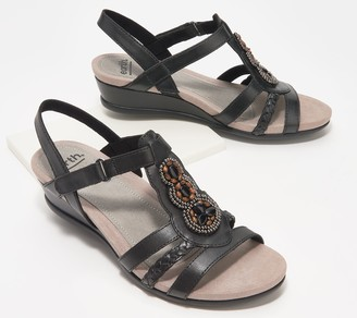 Earth Leather Wedge Sandals - Pisa Falmouth