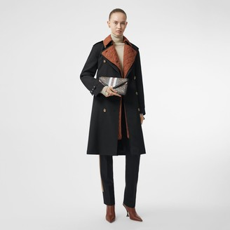 Burberry Wool Gabardine Trench Coat with Detachable Warer