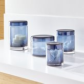 Crate & Barrel Mode Azure Glass Canisters