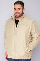 Yours Clothing BadRhino Stone Zip Up Padded Bomber Jacket