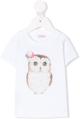 Il Gufo owl-print cotton T-shirt