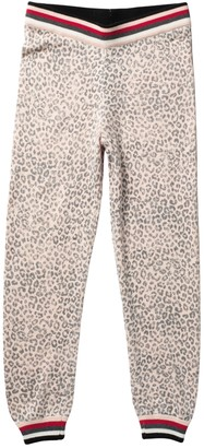 Splendid Leopard Sweater Knit Joggers (Big Girls)