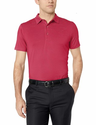 Cutter & Buck Men's Drytec UPF 50+ Forge Pencil Stripe Tailored Fit Polo Shirt