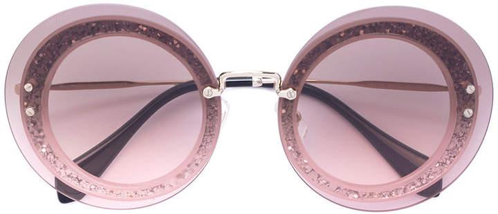 Miu Miu Reveal round sunglasses