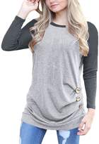 Tunic Shirts for Women to Wear with Leggings,FANSIC Teen Girls Plus Size Tops and Blouse