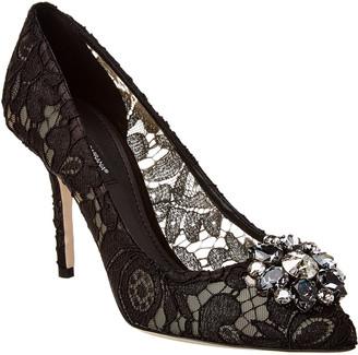 Dolce & Gabbana Bellucci Embellished Taormina Lace Pump