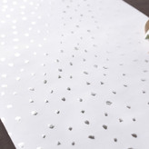"Minted ""120"""" Snow Dot Silver Foil-Pressed Table Runners"""