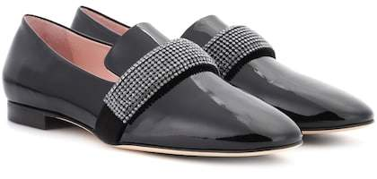 Christopher Kane Crystal Band patent leather loafers