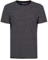 Topman Black and White Stripe T-Shirt