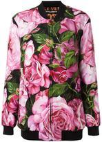 Dolce & Gabbana rose print bomber jacket - women - Silk/Polyester/Spandex/Elastane - 38