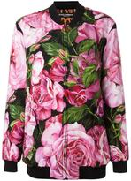 Dolce & Gabbana rose print bomber jacket - women - Silk/Polyester/Spandex/Elastane - 40