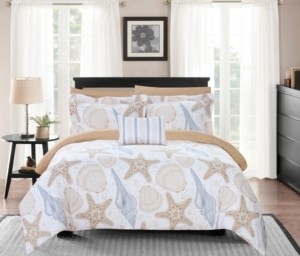 Chic Home Aquatic 6 Piece Twin Bed In a Bag Comforter Set Bedding