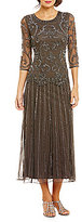 Pisarro Nights Beaded Mock Two-Piece Dress