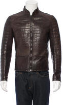 Roberto Cavalli Crocodile Moto Jacket