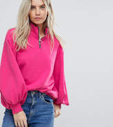 Chorus Petite Zippy Puller Funnel Neck Sweat